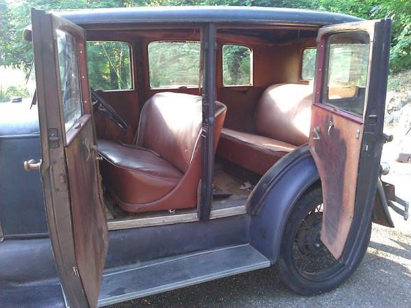1929 Ford Model A Fordor Interior