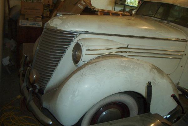 1939 Hupmobile Senior Six Front Garage