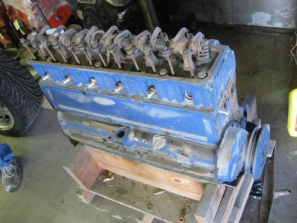 1953 Corvette Blue Flame Engine