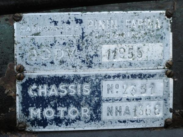 1953 Nash Healey Project Chassis Number