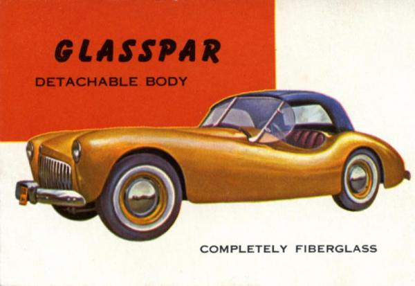 1954 Glasspar G2 Postcard