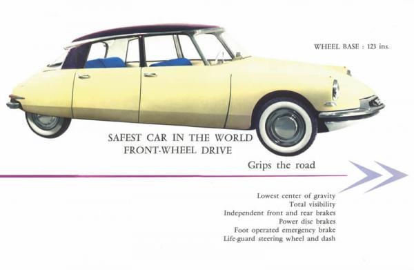 1956 Citroen Ds Brochure
