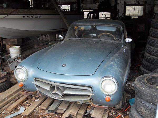 1957 Mercedes 190sl Front