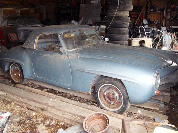 1957 Mercedes 190sl Side