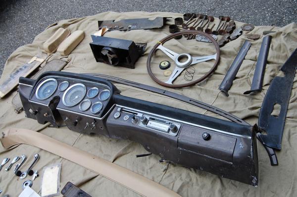 1958 Ferrari 250 Pf Coupe Interior Parts