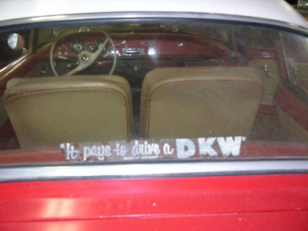 1958 Auto Union 1000 Sp Interior