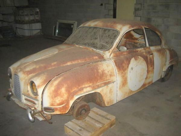 1960 Saab 93f Rally Project Drivers Side