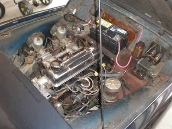 1961 Triumph Tr3 Garage Find Engine