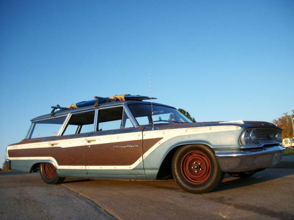 1963 Ford Country Squire Wagon Corner