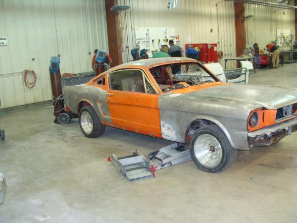 1965 Ford Mustange Fastback Front Corner At Wyotech