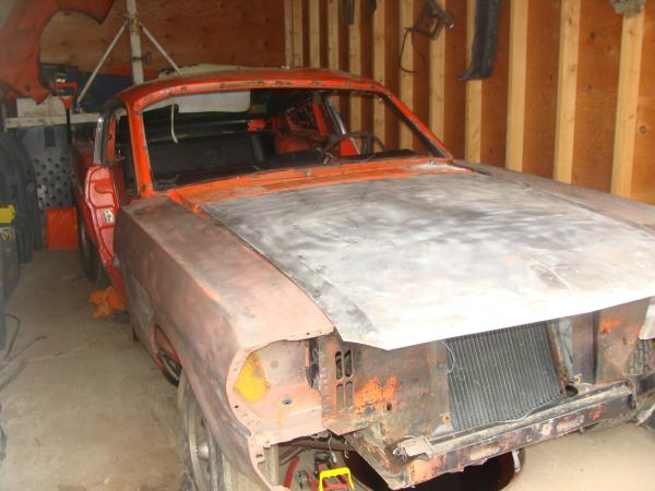1965 Ford Mustange Fastback Front Corner In Storage