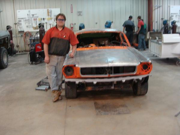 1965 Ford Mustange Fastback Front With David
