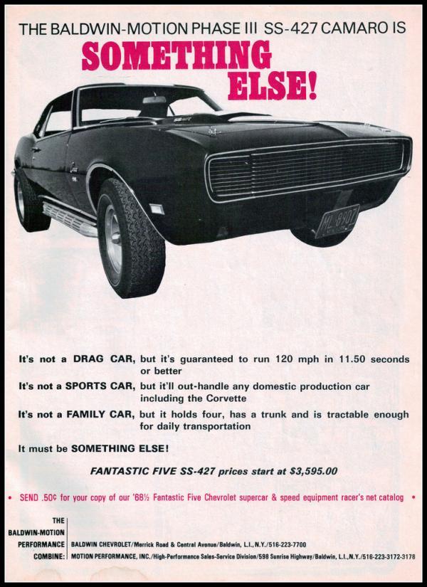 1968 Baldwin Motion Camaro Brochure