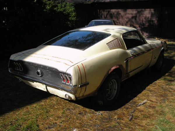 1968 Ford Mustang Fastback Rear Corner