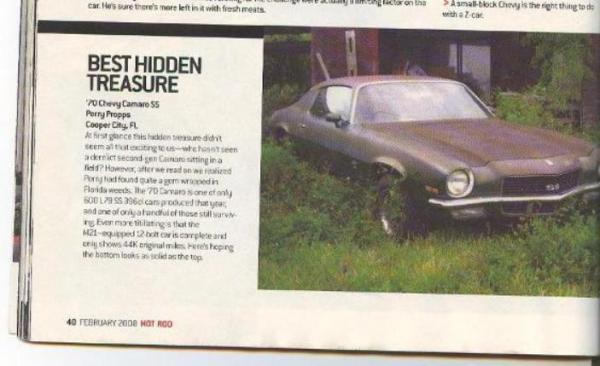 1970 Chevrolet Camaro In Magazine