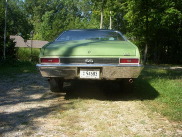 1970 Chevrolet Nova Ss 396 Rear