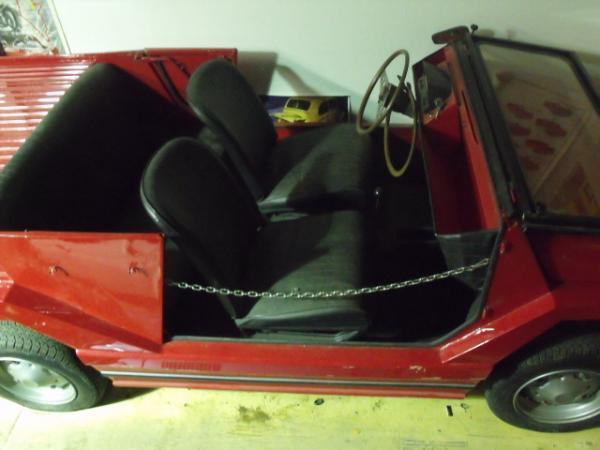 1970 Fiat 500 Moretti Minimax Interior