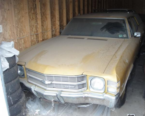 1971 Chevrolet Chevelle Wagon In Storage Front Corner