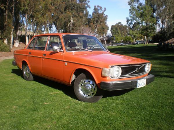 Orange All Over 1974 Volvo 144 California Edition