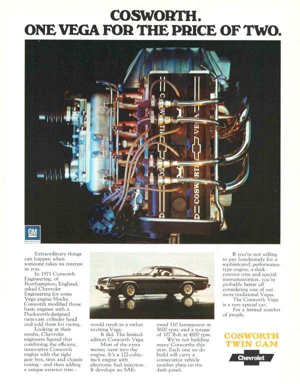 1975 Cosworth Vega Ad