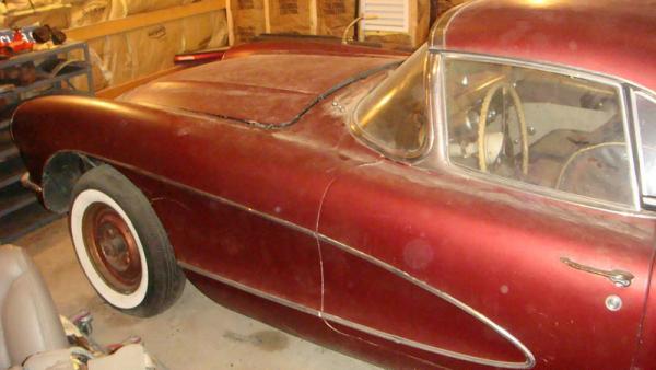 Beige 1957 Chevrolet Corvette Front Corner