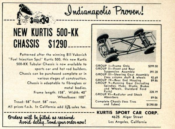 Kurtis Kraft 500 Kk Chassis Ad