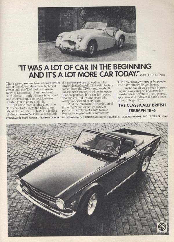 Triumph Tr6 Ad