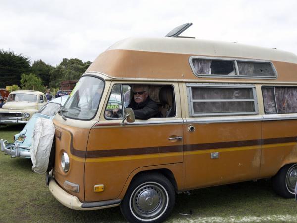 Wayne Carini In Vw Bus At Lemons