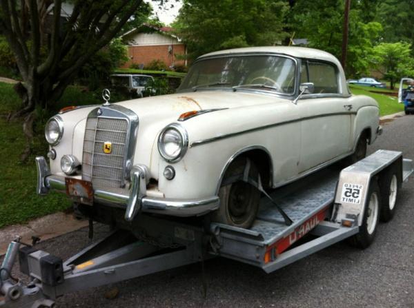 garage ponton 1958 mercedes 220s coupe. Black Bedroom Furniture Sets. Home Design Ideas