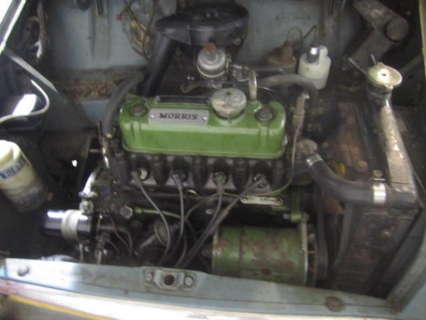 1960-morris-mini-garage-find-engine