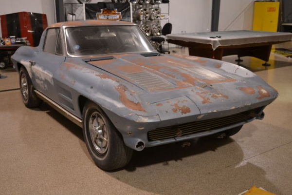 Split window survivor 1963 corvette sting ray for 1963 vette split window