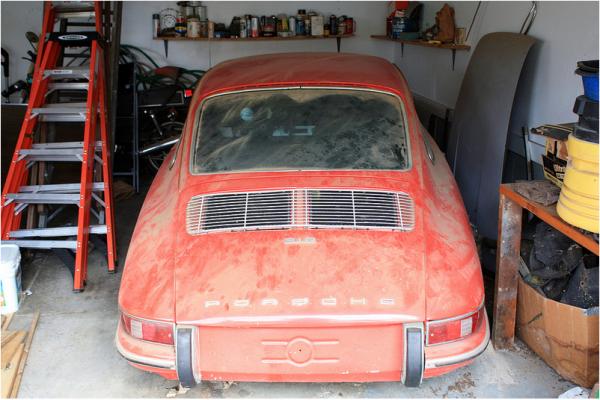 1968-porsche-912-garage-find-rear