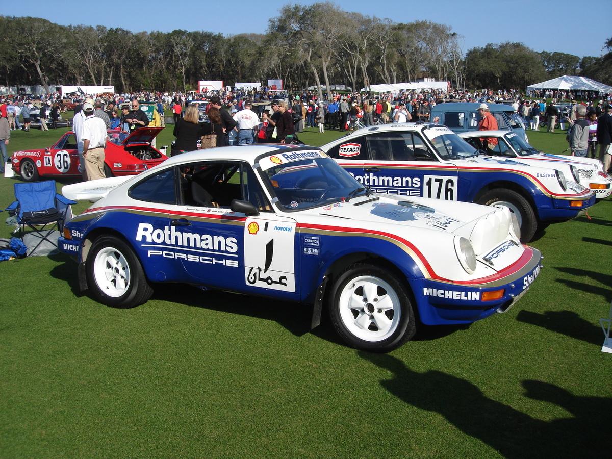 Rothman-Porsche race cars