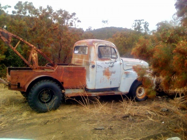 Barn Find 1952 Ford F2 Tow Truck Side