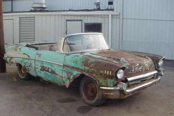 Rusty 1957 Chevrolet Bel Air Convertible