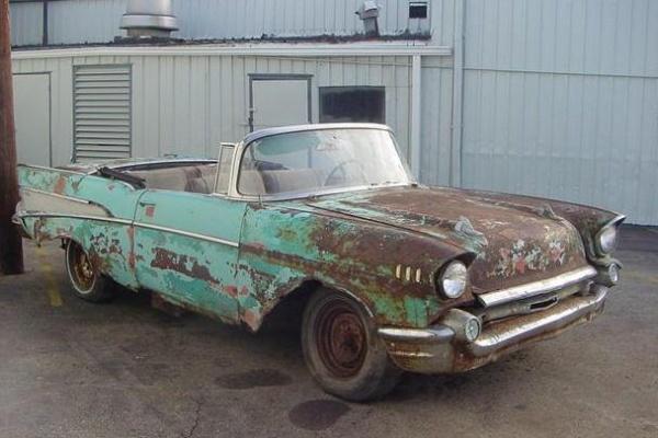 Rusty 1957 Chevrolet Bel Air Convertible