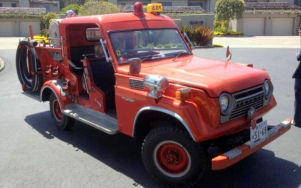 Japanese fire truck 1980 toyota land cruiser for Rolling motors san bruno ca