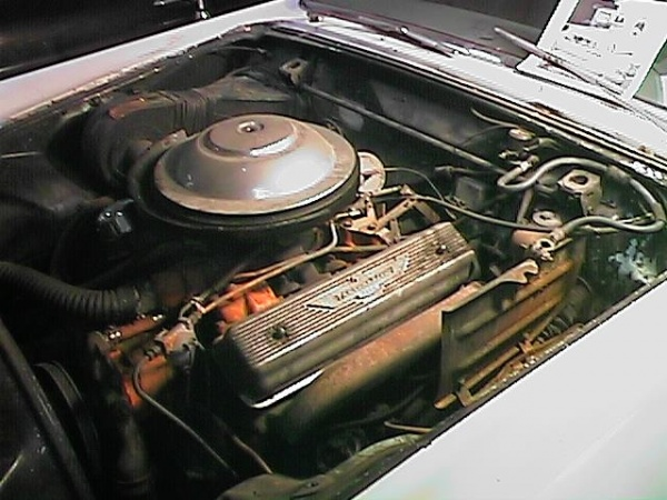 california-1955-thunderbird-engine
