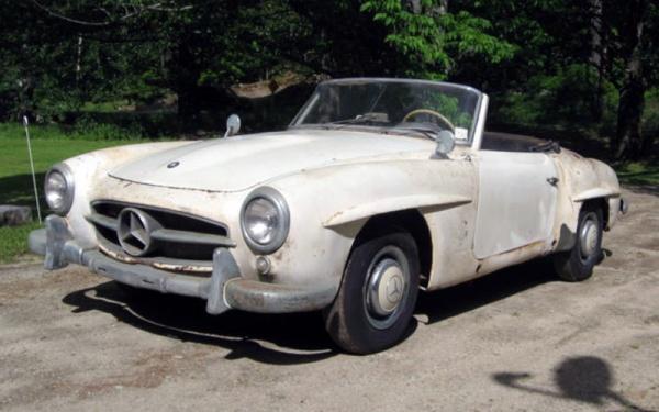 Maine Find 1956 Mercedes 190sl Front Corner