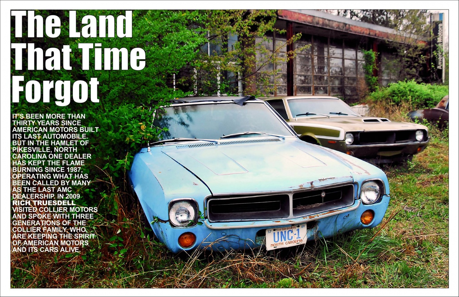 American Pickers Pikeville Nc former amc dealership full of cars