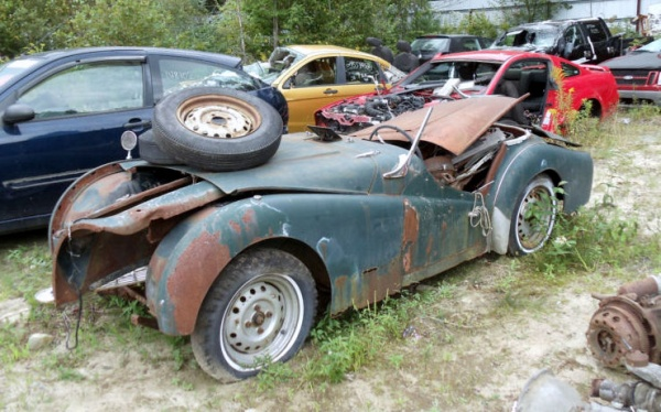 field full of pre war cars in maine. Black Bedroom Furniture Sets. Home Design Ideas