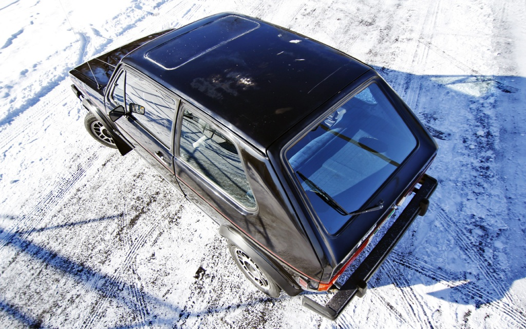 VW GTI overhead