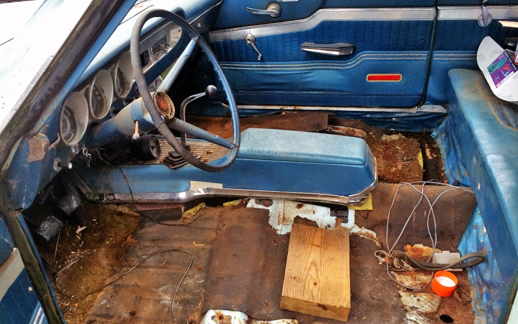 Cleaned out Fairlane interior