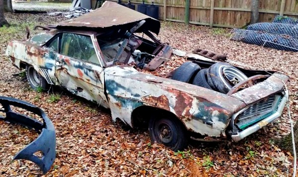 bulldozed Camaro