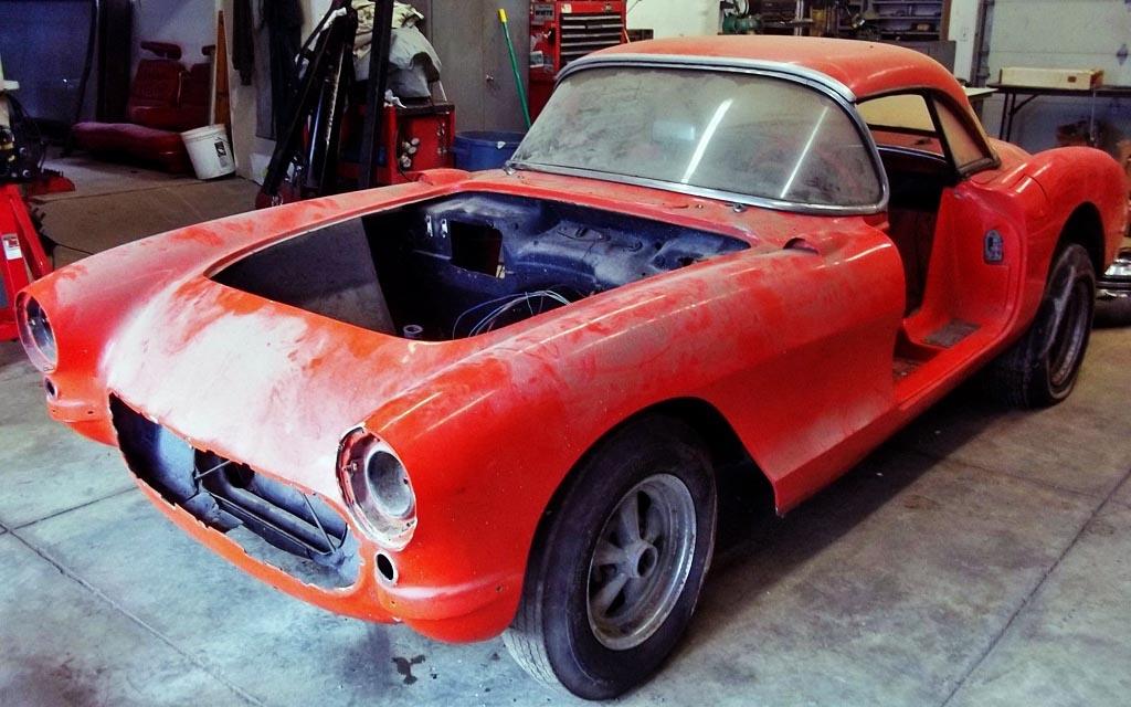 1956 Corvette in Pieces