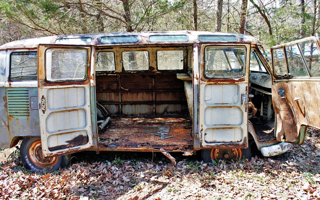 Rusty Bus 1966 Vw Samba 21 Window