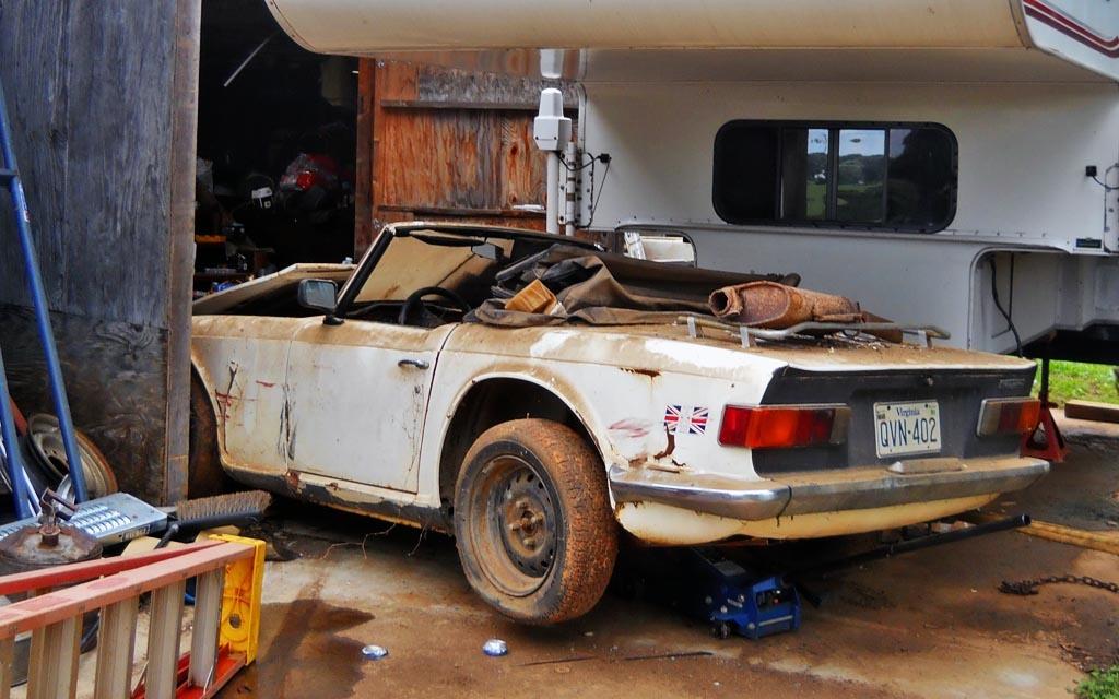 1969 Triumph TR6 Back Home
