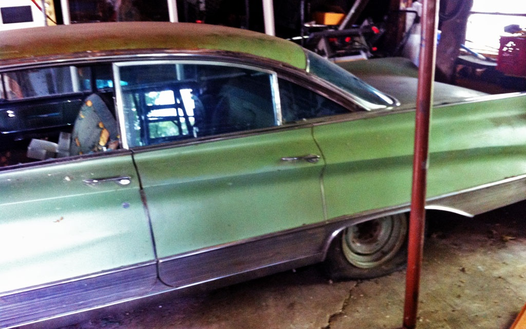 Buick Electra 225 in the garage