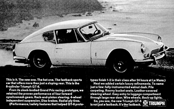 Stacked High 1968 Triumph Gt6