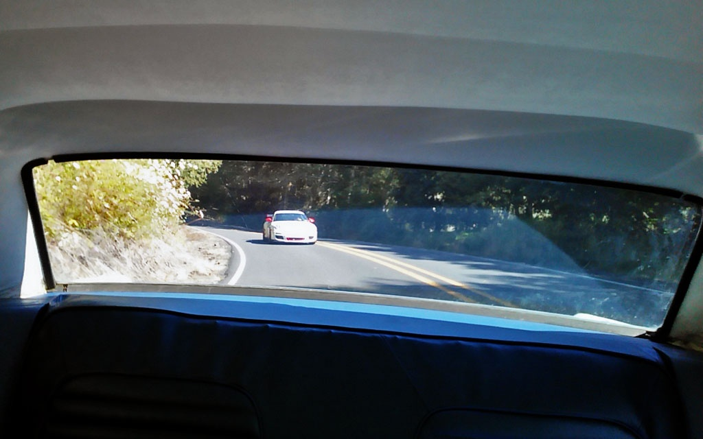 Porsche GT3 RS hunting us down